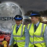Cadets patrol the SONISPHERE event. Keeping crime down.
